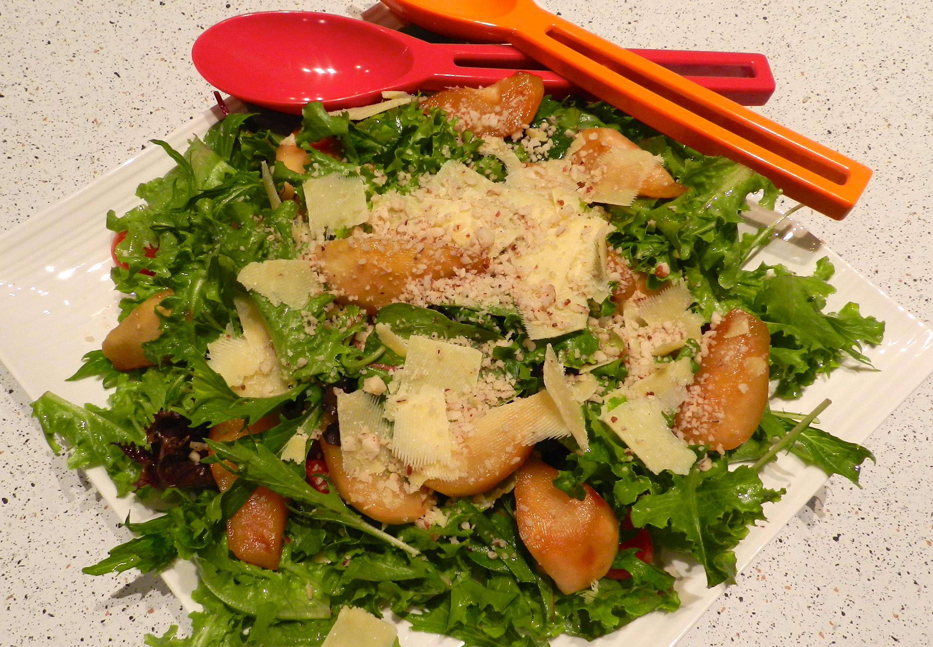 Honey Roasted Pear Salad | devika's kitchen